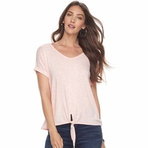 JUICY COUTURE Top Pink Tie-Front Dolman Sleeve M